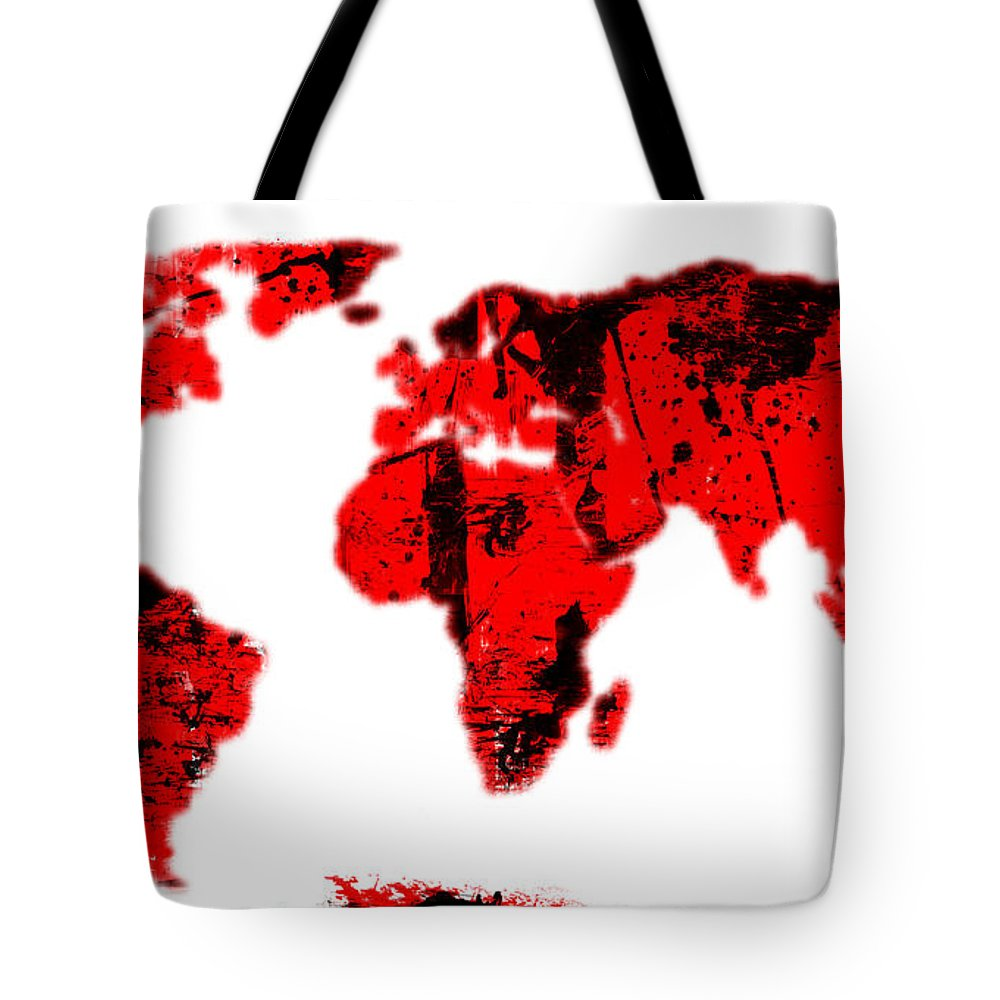 World Tote Bag featuring the digital art World by Michal Boubin
