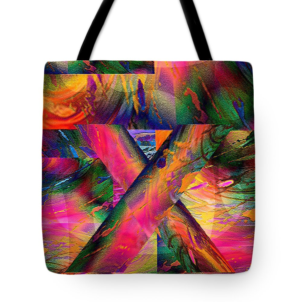 Paula Ayers Tote Bag featuring the digital art X Marks The Spot by Paula Ayers