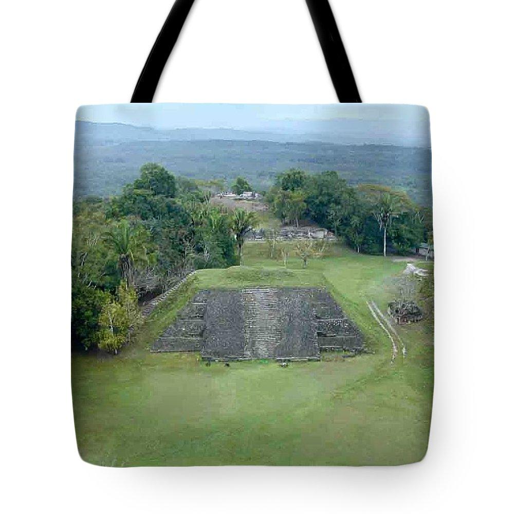 Xunantunich Tote Bag featuring the photograph Xunantunich 8 by Douglas Barnett