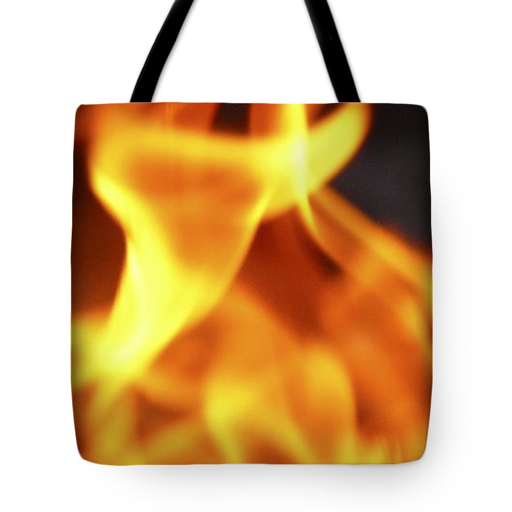 Art Tote Bag featuring the photograph Yellow Dance by David Kehrli