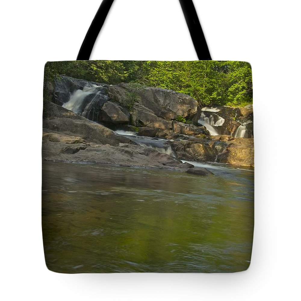 Waterfall Tote Bag featuring the photograph Yellow Dog Falls 4232 by Michael Peychich