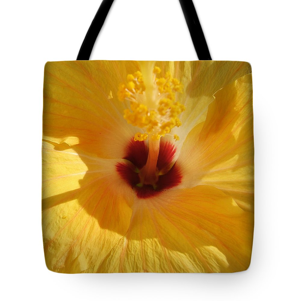 Flower Tote Bag featuring the photograph Yellow Flower by Melissa Gallant