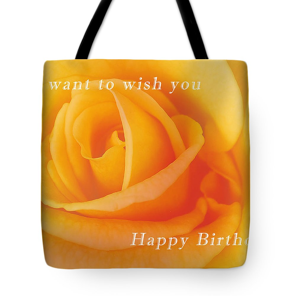 Yellow Rose Birthday Card Tote Bag For Sale By Michael Peychich