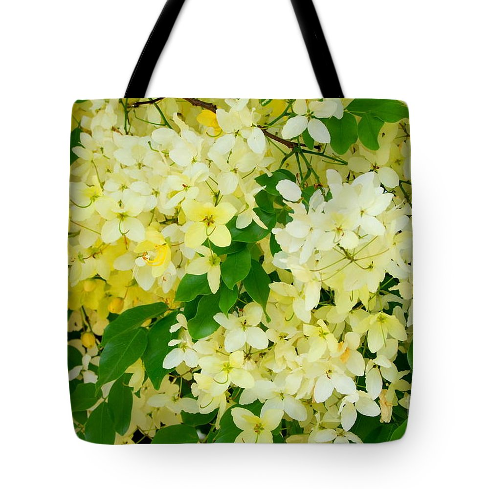 Yellow Tote Bag featuring the photograph Yellow Shower Tree - 1 by Mary Deal