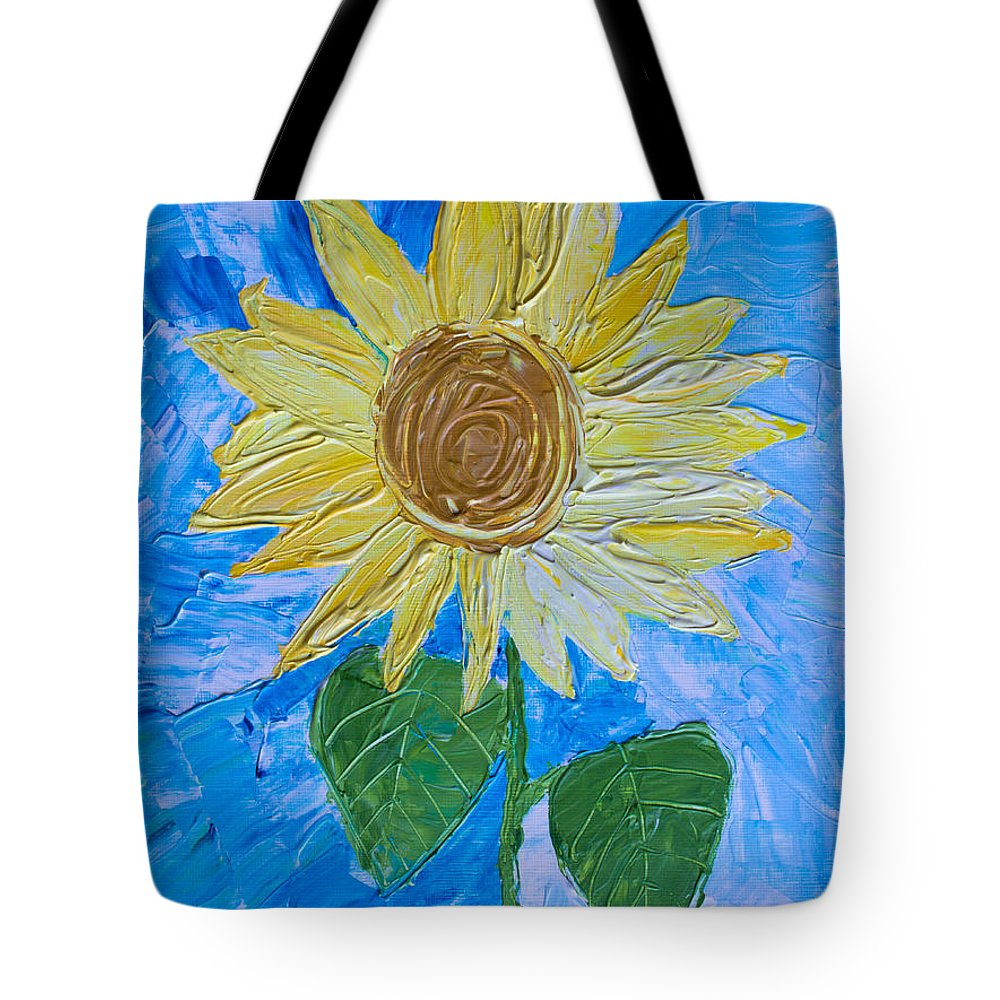 Art Tote Bag featuring the painting Yellow Sunshine by Heidi Smith