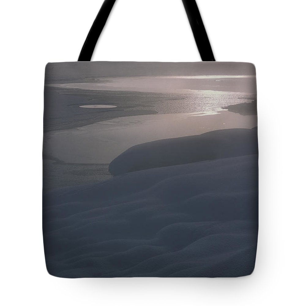 Bronstein Tote Bag featuring the photograph Yellowstone Lake Sunrise by Sandra Bronstein