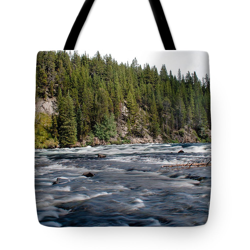 River Tote Bag featuring the photograph Yellowstone River by Robert Bales