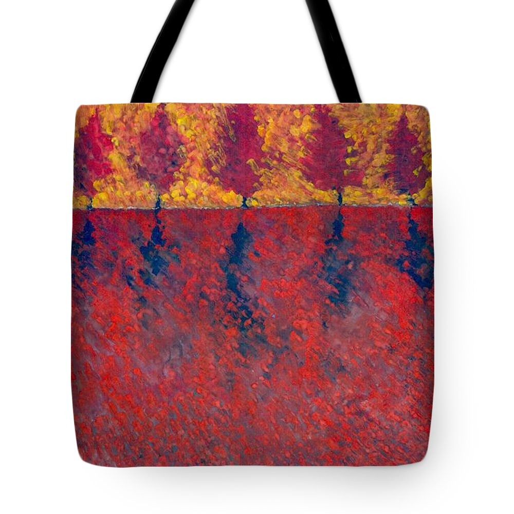Colour Tote Bag featuring the painting Yet A Bit Light by Wojtek Kowalski