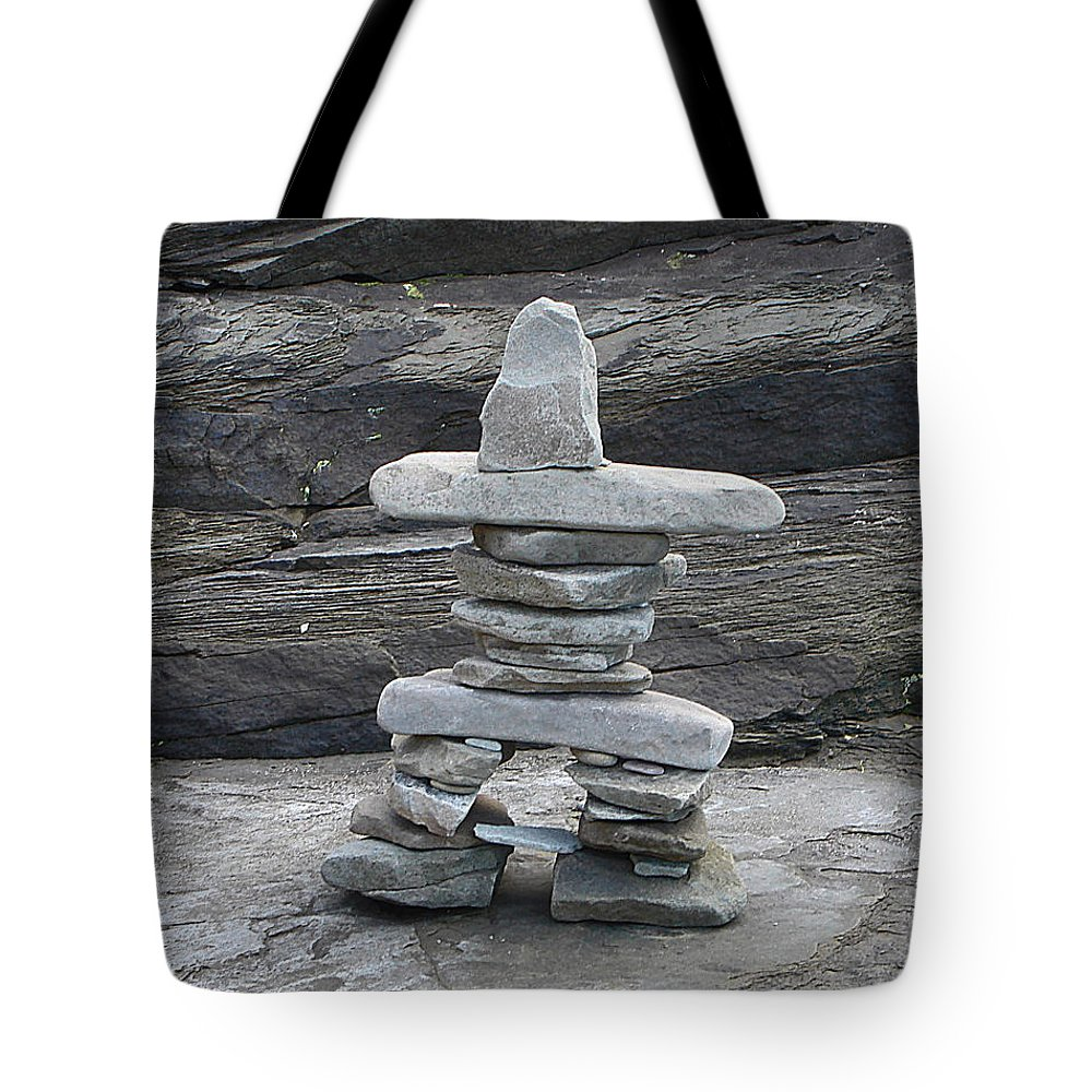 Inuit Art Tote Bag featuring the photograph You Are On The Right Path by Barbara McMahon