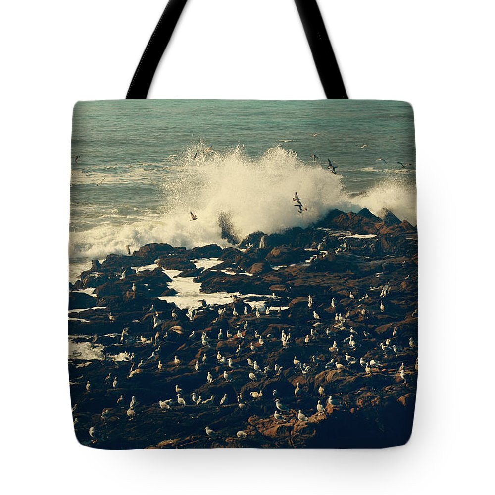 Cambria Tote Bag featuring the photograph You Came Crashing Into My Heart by Laurie Search