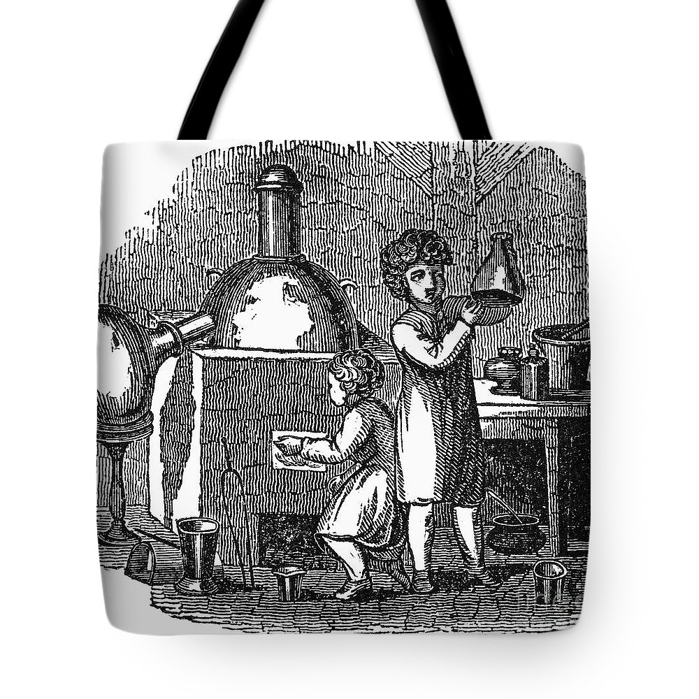 1840 Tote Bag featuring the photograph Young Chemists by Granger
