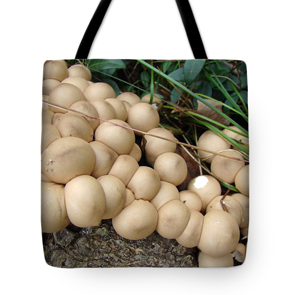 Mushroom Tote Bag featuring the photograph You're Crowding Me by Mother Nature