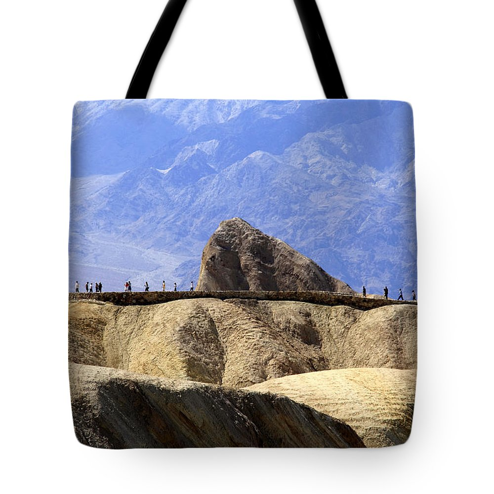 Zabriske Point Tote Bag featuring the photograph Zabriske Point by Wes and Dotty Weber