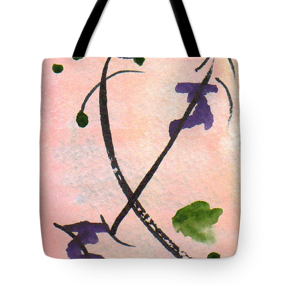 Watercolor Tote Bag featuring the painting Zen Study 01 by Paula Ayers