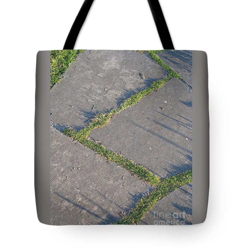 Path Tote Bag featuring the photograph Zig-zagging by Ann Horn
