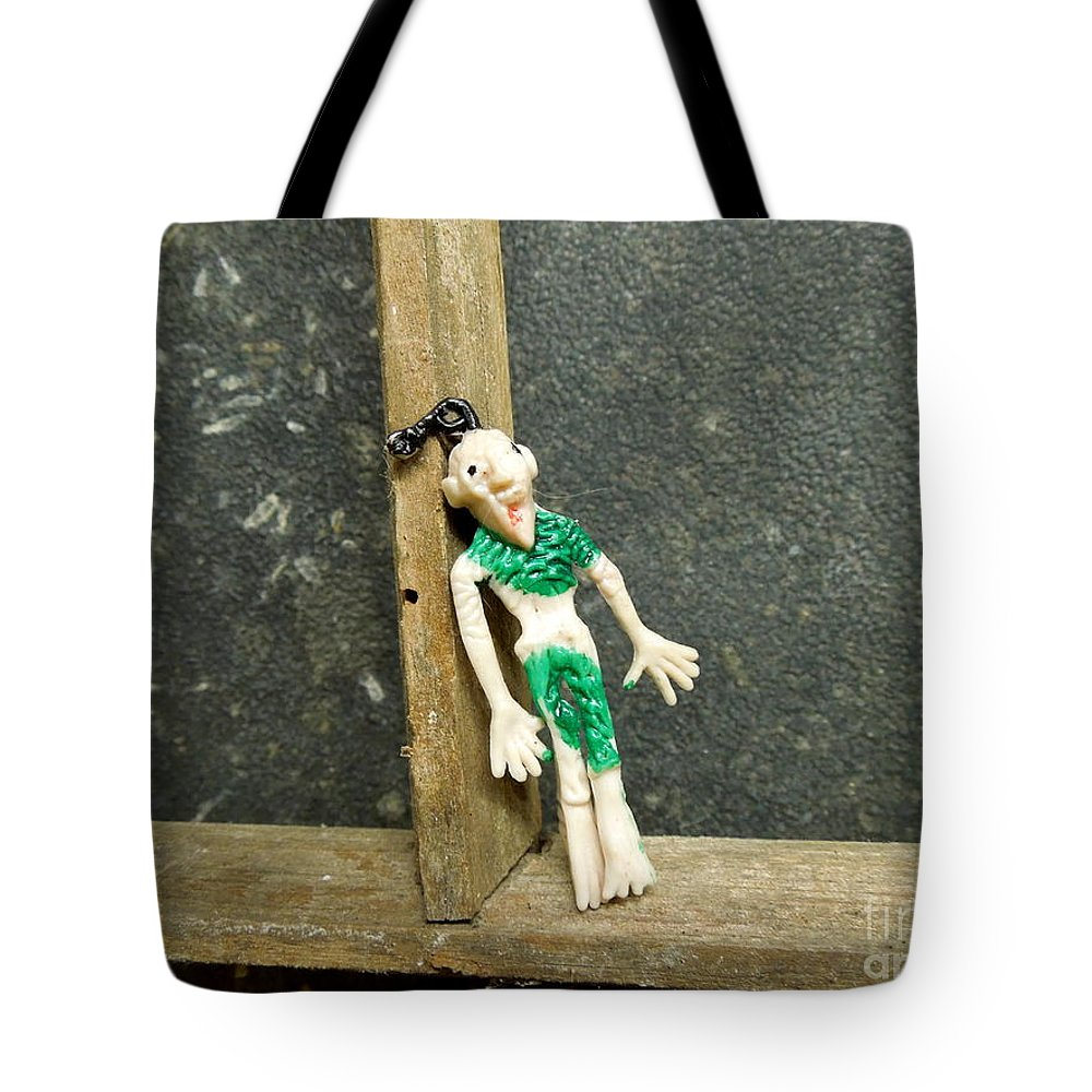 Zombie Tote Bag featuring the photograph Zombie At The Window by Renee Trenholm