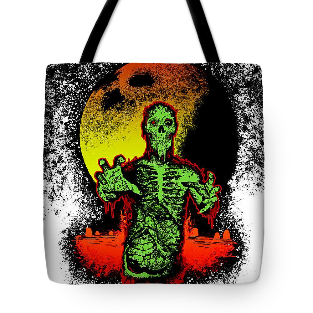 Undead Process Tote Bag featuring the mixed media Zombie by Tony Koehl