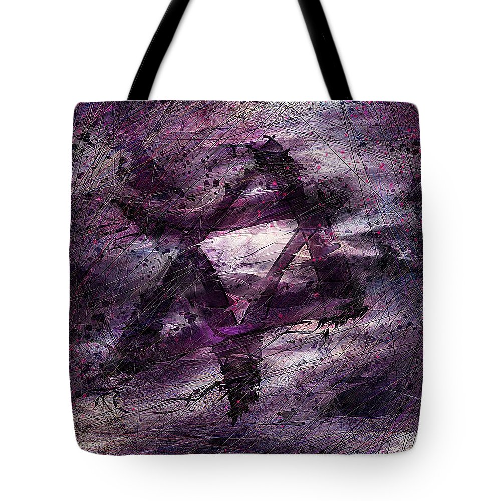 Abstract Tote Bag featuring the digital art . . . When We Remembered Zion by Rachel Christine Nowicki