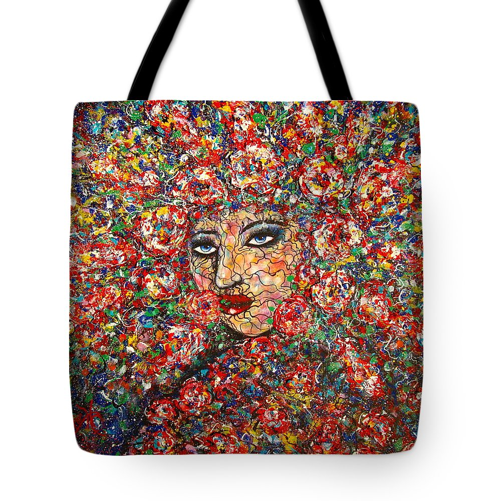 Woman Tote Bag featuring the painting  Gentle Beautiful Flower by Natalie Holland