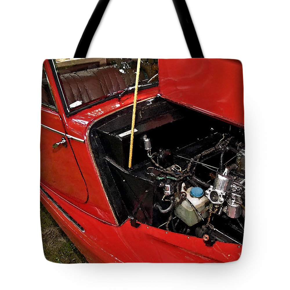 Car Tote Bag featuring the photograph 1961 Morgan Plus 4 Drophead Coupe by Jim DeLillo
