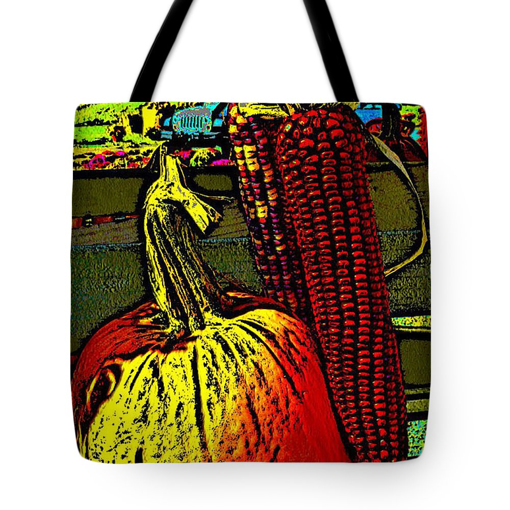 Ebsq Tote Bag featuring the photograph Autumn Trio by Dee Flouton