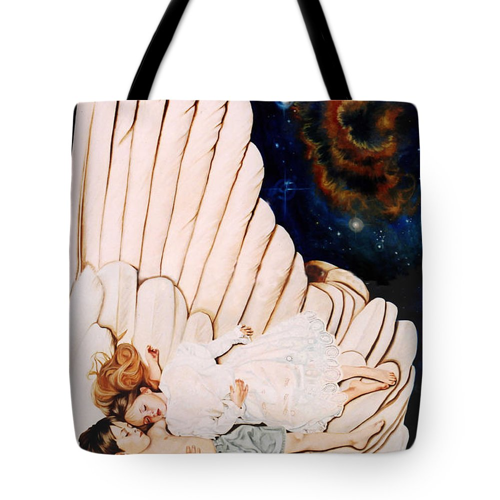 Be Still And Know That I Am God Tote Bag featuring the painting Be Still by Teresa Carter