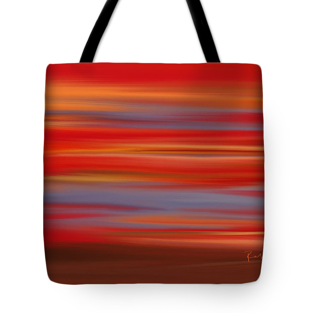 Abstract Tote Bag featuring the digital art Evening In Ottawa Valley by Rabi Khan