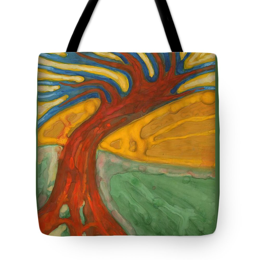 Colour Tote Bag featuring the painting I Would Like To Be Me by Wojtek Kowalski