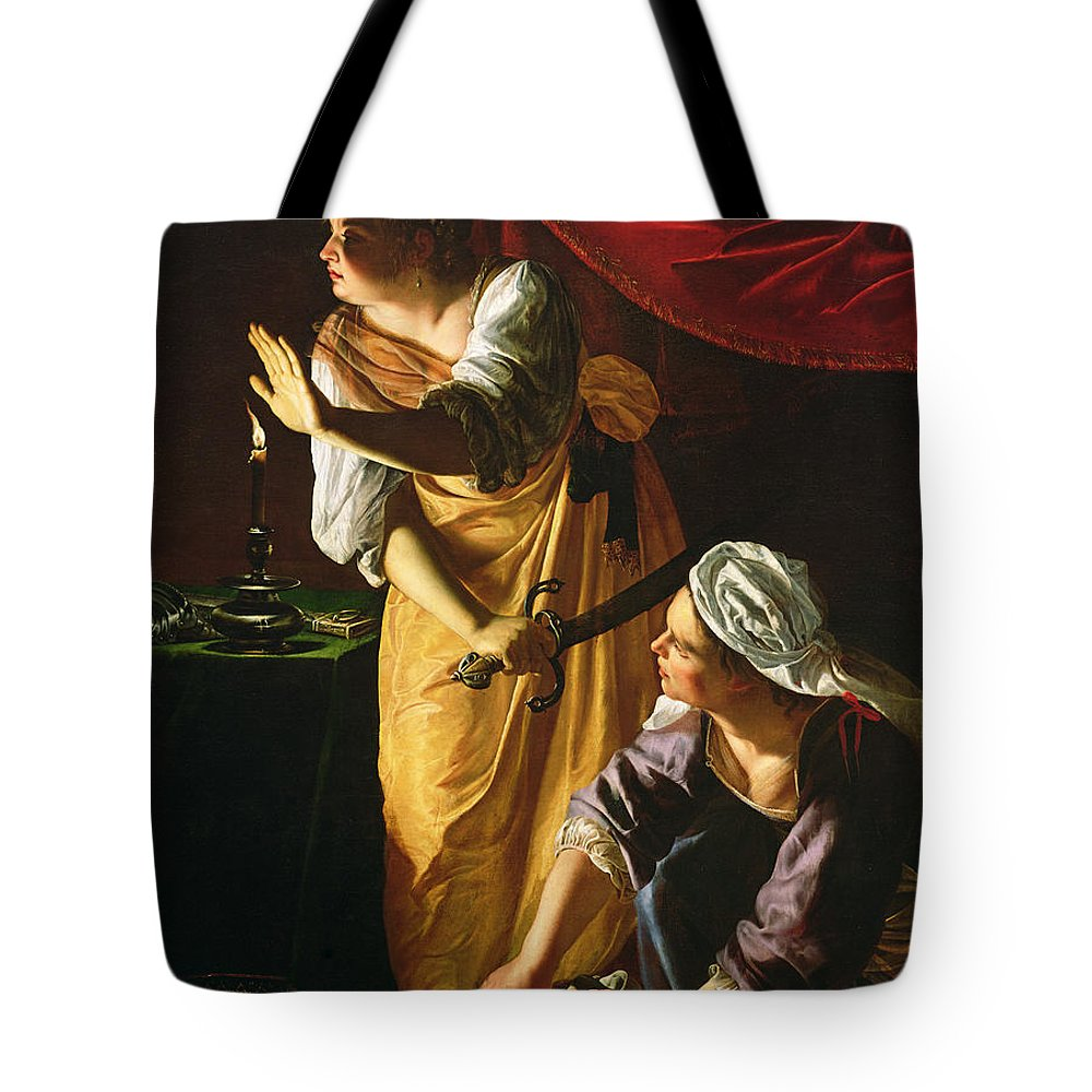 Judith Tote Bag featuring the painting Judith and Maidservant with the Head of Holofernes by Artemisia Gentileschi