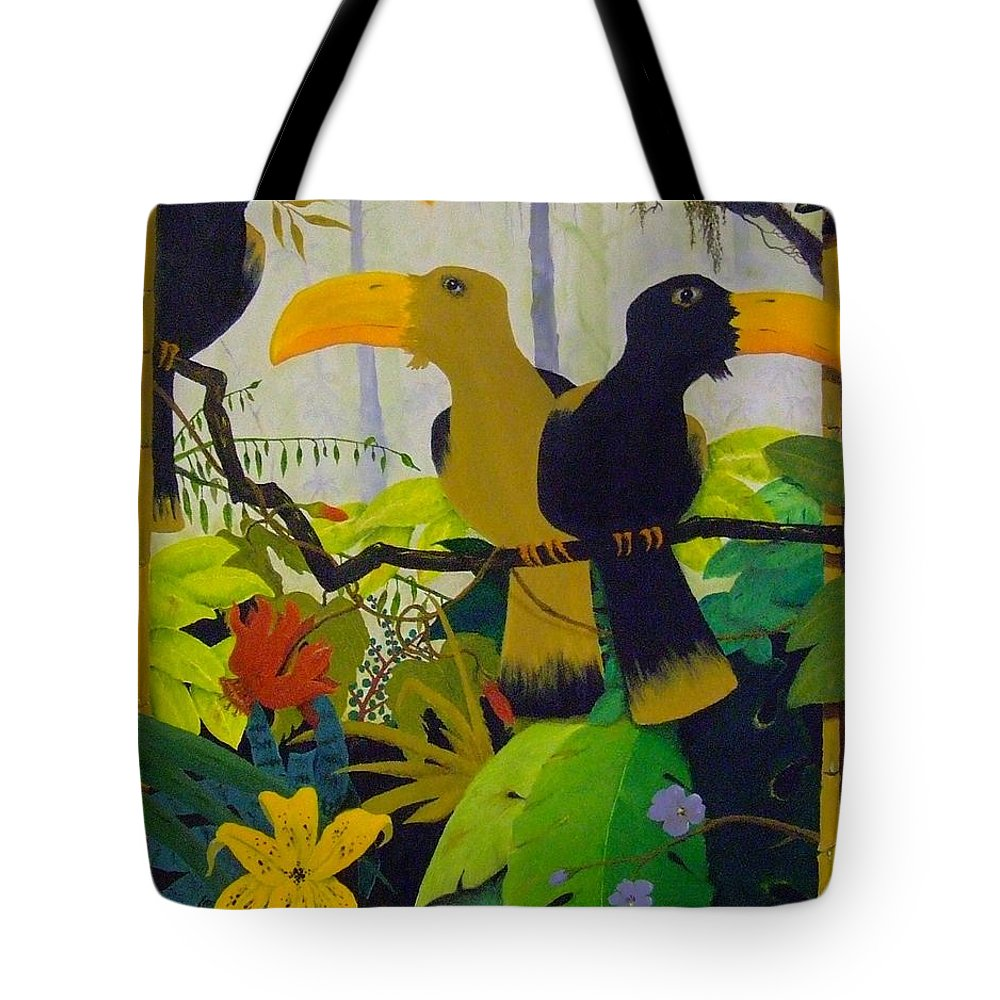 Jungle Tote Bag featuring the painting Jungle Boogie by Patrick Trotter