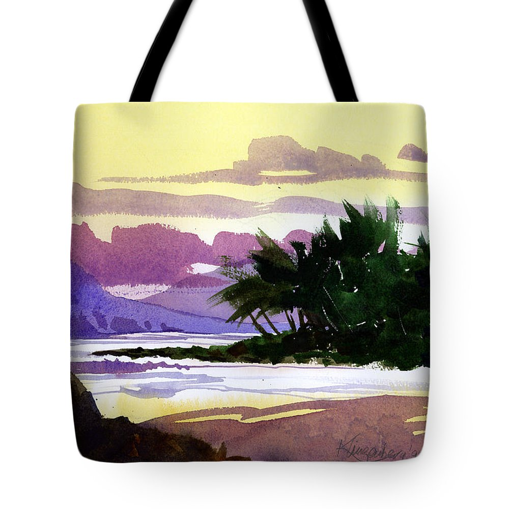 Shoreline Tote Bag featuring the painting Ko Olina Sunset by Lee Klingenberg