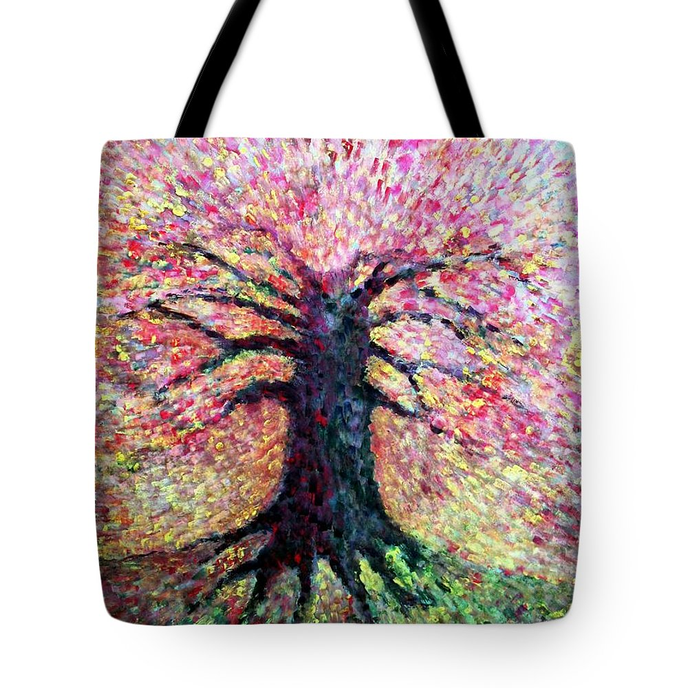 Colour Tote Bag featuring the painting Ladies With Me All by Wojtek Kowalski