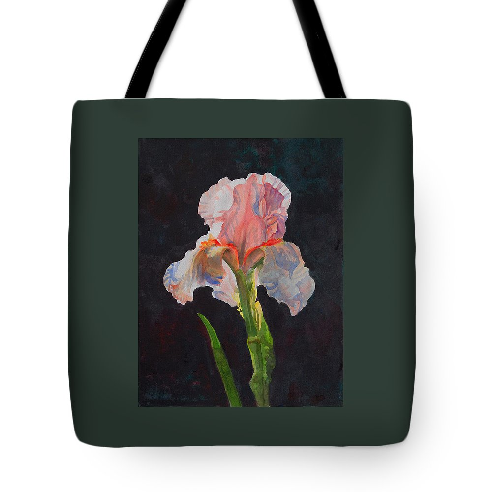 Floral Tote Bag featuring the painting Majestic Iris by Heidi E Nelson