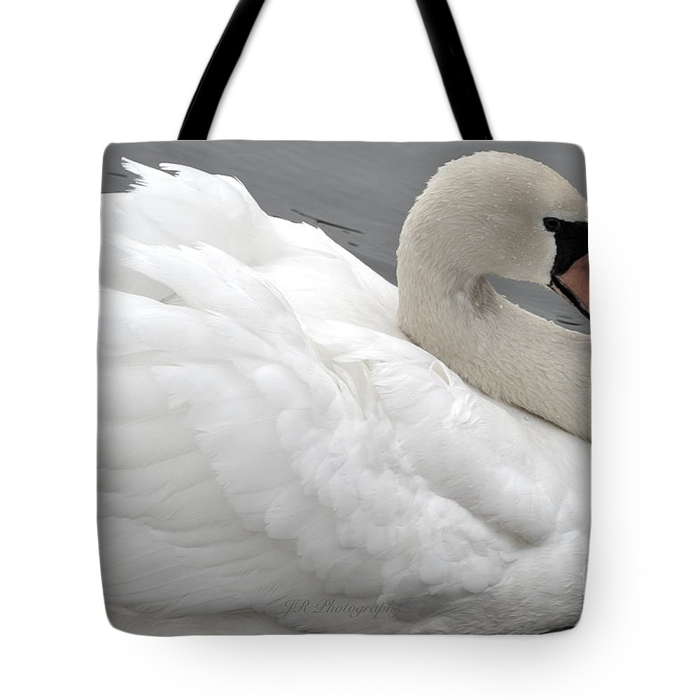 Mute Swan Tote Bag featuring the photograph Mute Swan by Jeannie Rhode