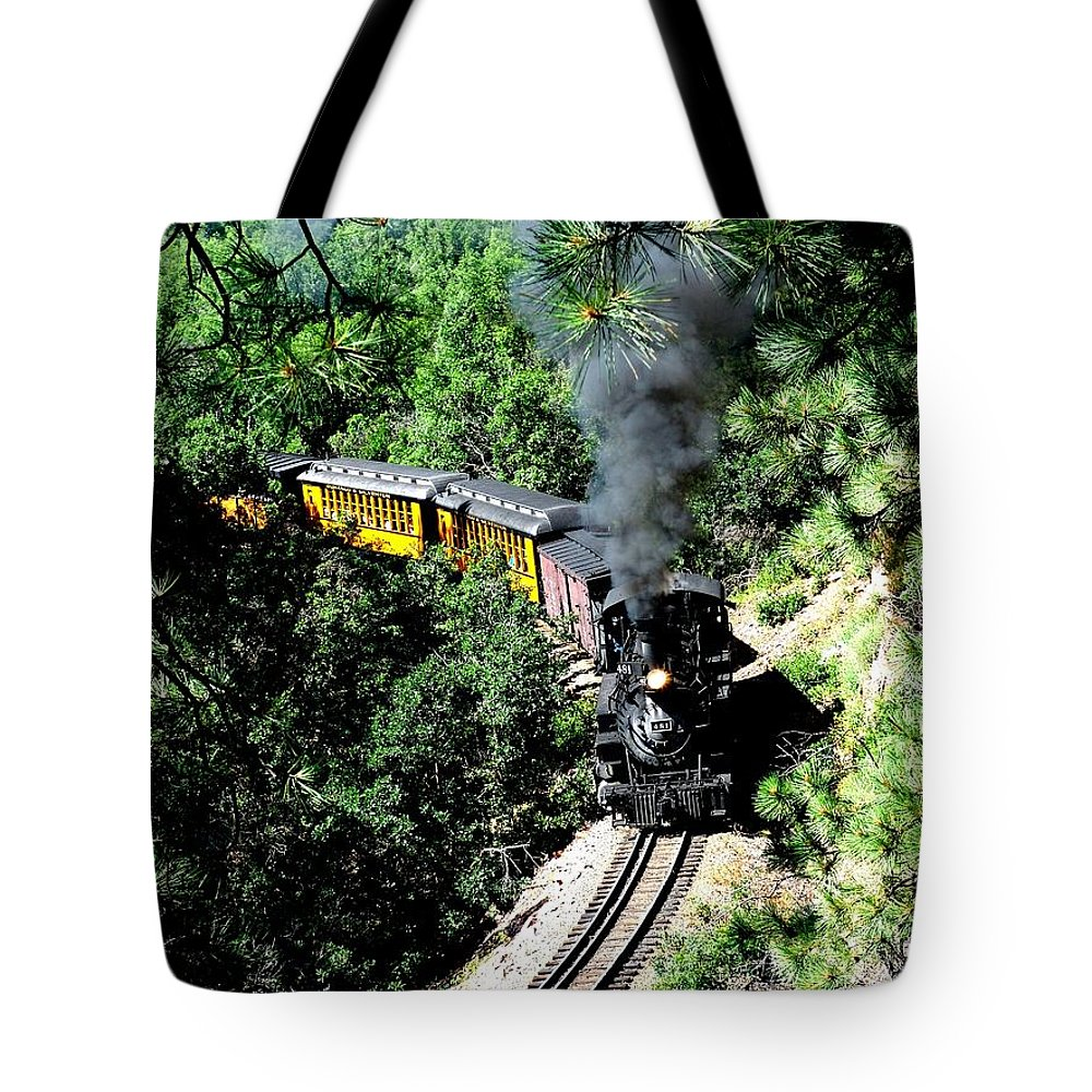 Train Tote Bag featuring the photograph Nostalgic Moments by Carol Milisen