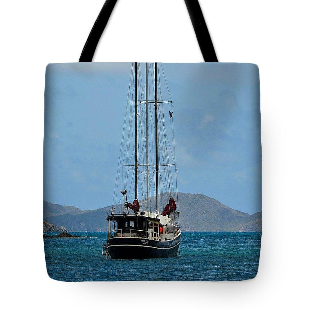 St. Jonn Tote Bag featuring the photograph Sailing Virgin Islands by Joy McAdams