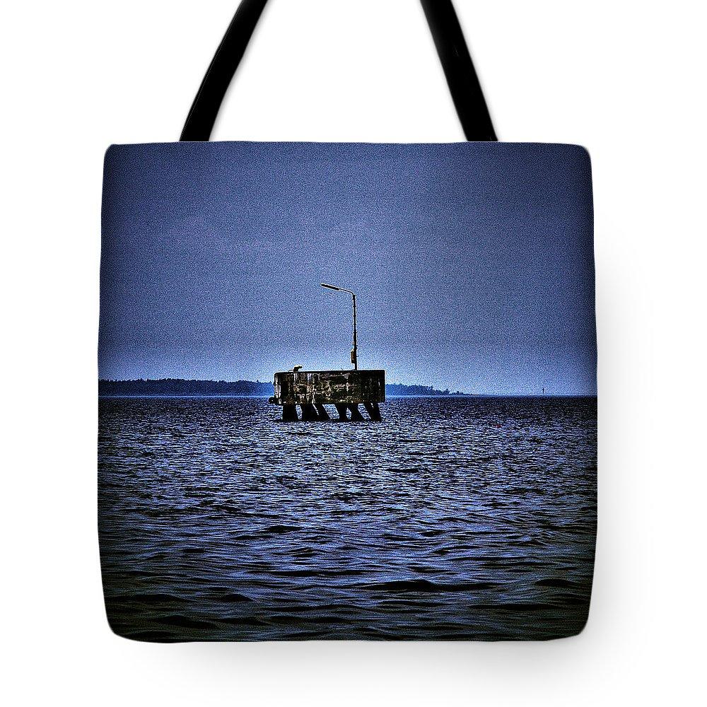 Lehtokukka Tote Bag featuring the photograph The Dock Of Loneliness by Jouko Lehto