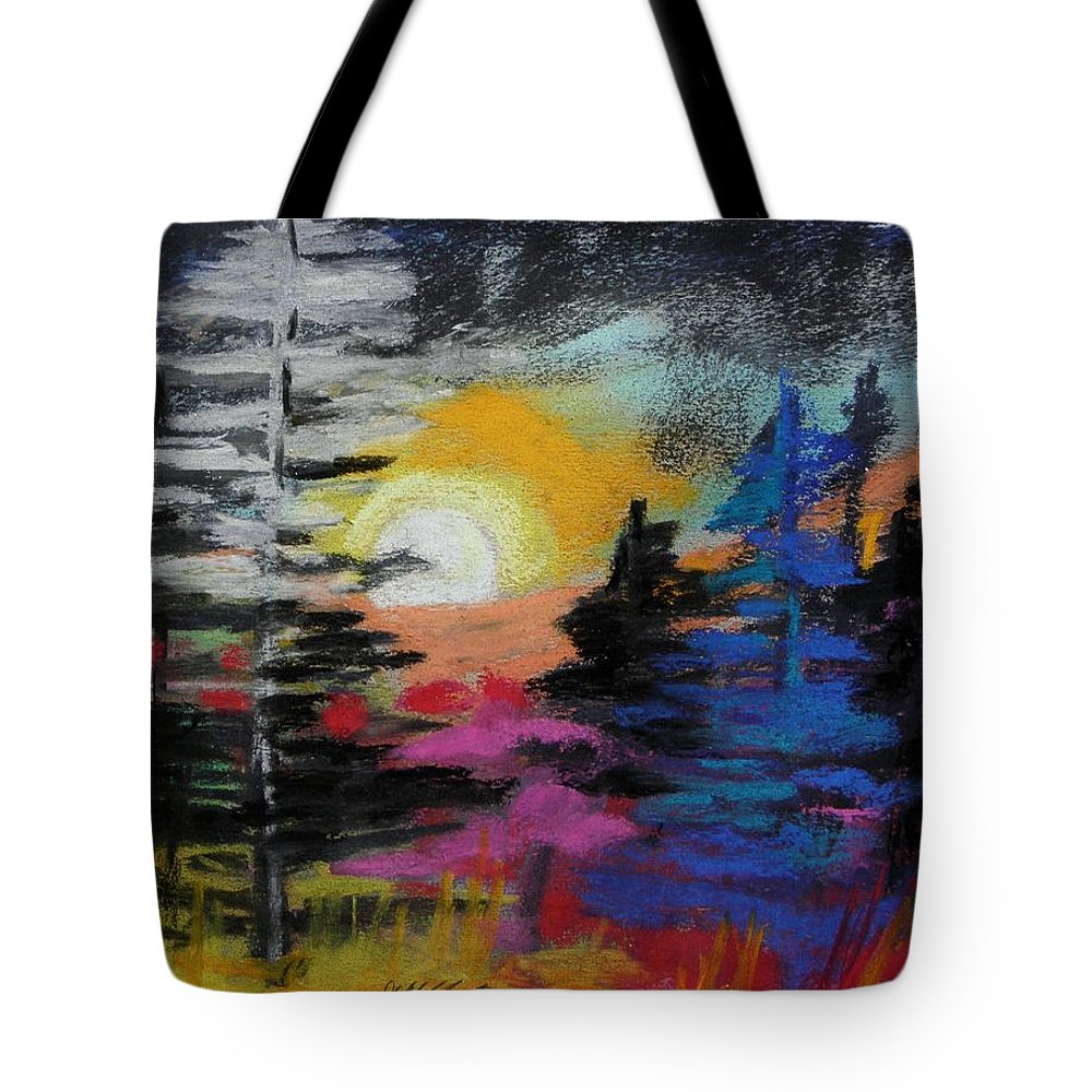 Trees Tote Bag featuring the painting Valley Of The Moon by John Williams