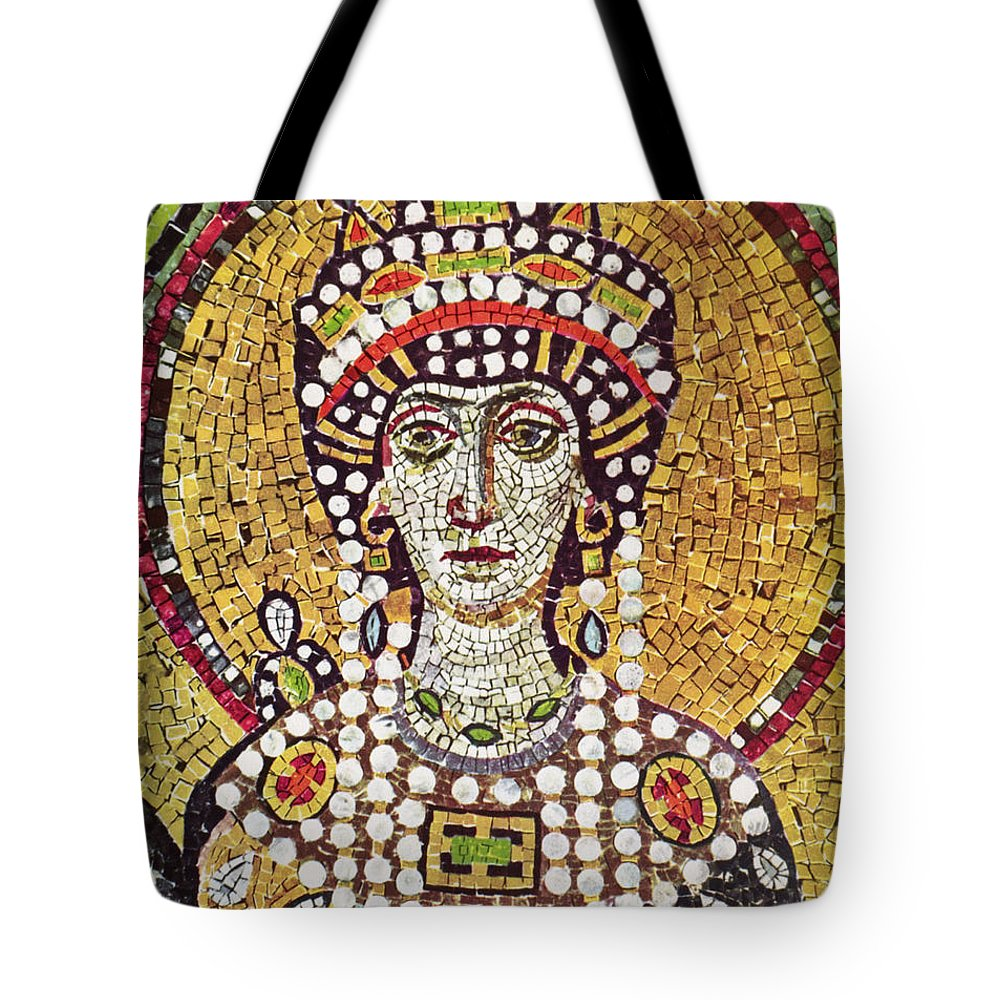 6th Century Tote Bag featuring the painting Theodora (c508-548) by Granger