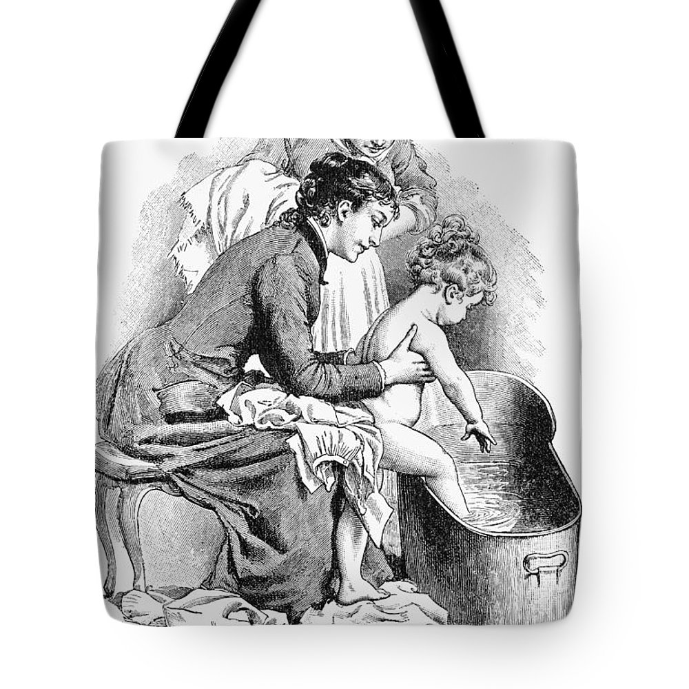 1887 Tote Bag featuring the painting Pears' Soap Ad, 1887 by Granger