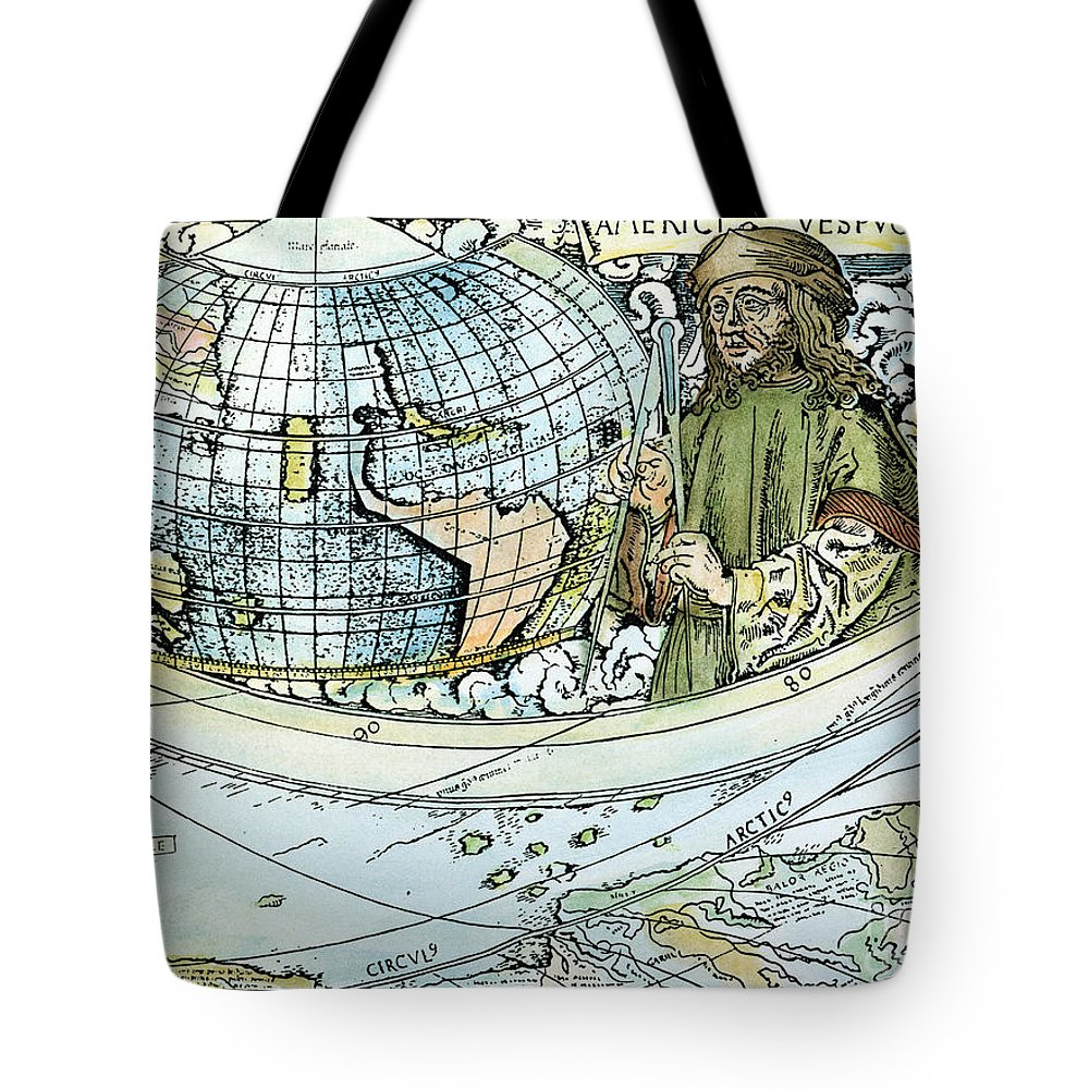 1507 Tote Bag featuring the painting Amerigo Vespucci (1454-1512) by Granger
