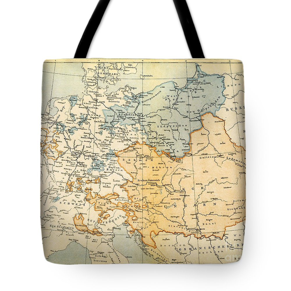 1795 Tote Bag featuring the painting Austrian Empire Map, 1795 by Granger