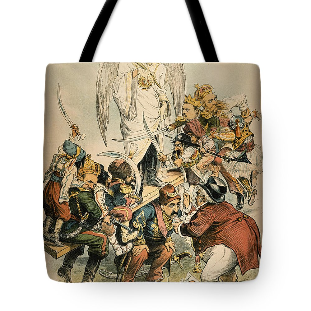 1886 Tote Bag featuring the painting Otto Von Bismarck by Granger