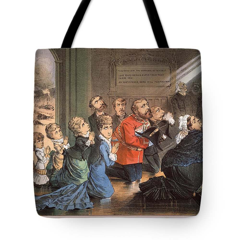 1882 Tote Bag featuring the painting British Imperialism, 1882 by Granger