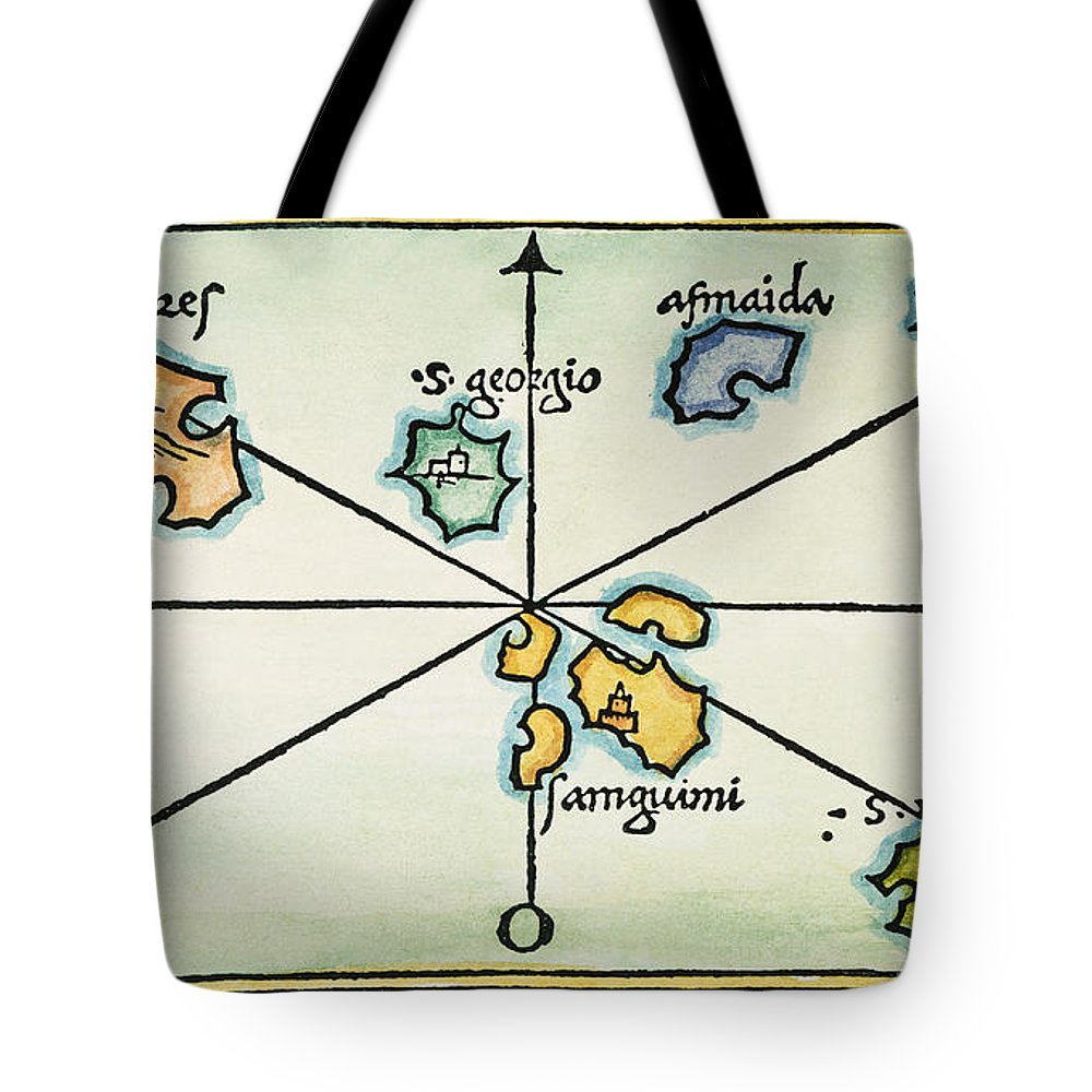 1528 Tote Bag featuring the painting Azores, 1528 by Granger