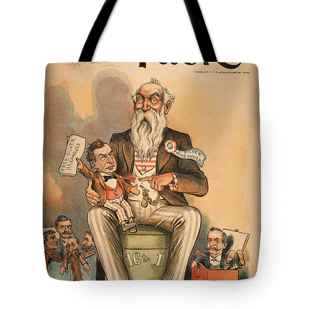 1896 Tote Bag featuring the painting William Jennings Bryan by Granger