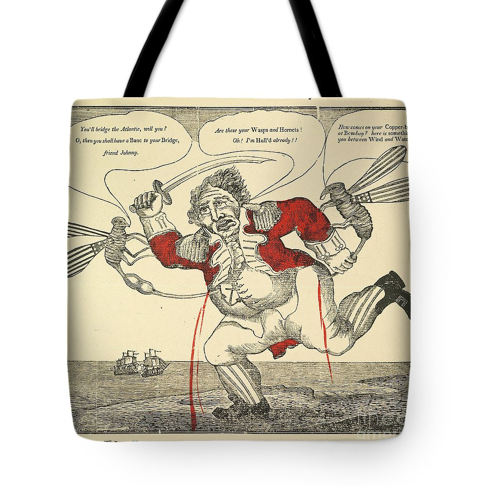 1813 Tote Bag featuring the painting War Of 1812: Cartoon, 1813 by Granger