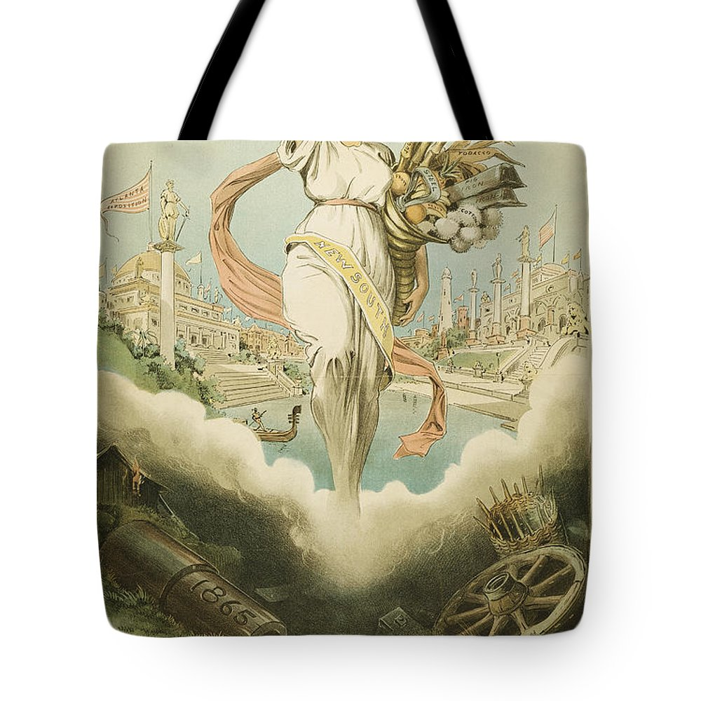 1895 Tote Bag featuring the painting Atlanta Exposition, 1895 by Granger