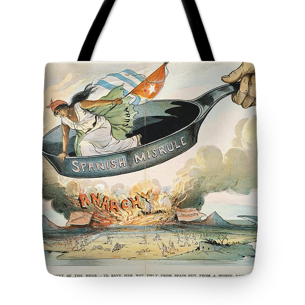 1898 Tote Bag featuring the painting Spanish-american War, 1898 by Granger