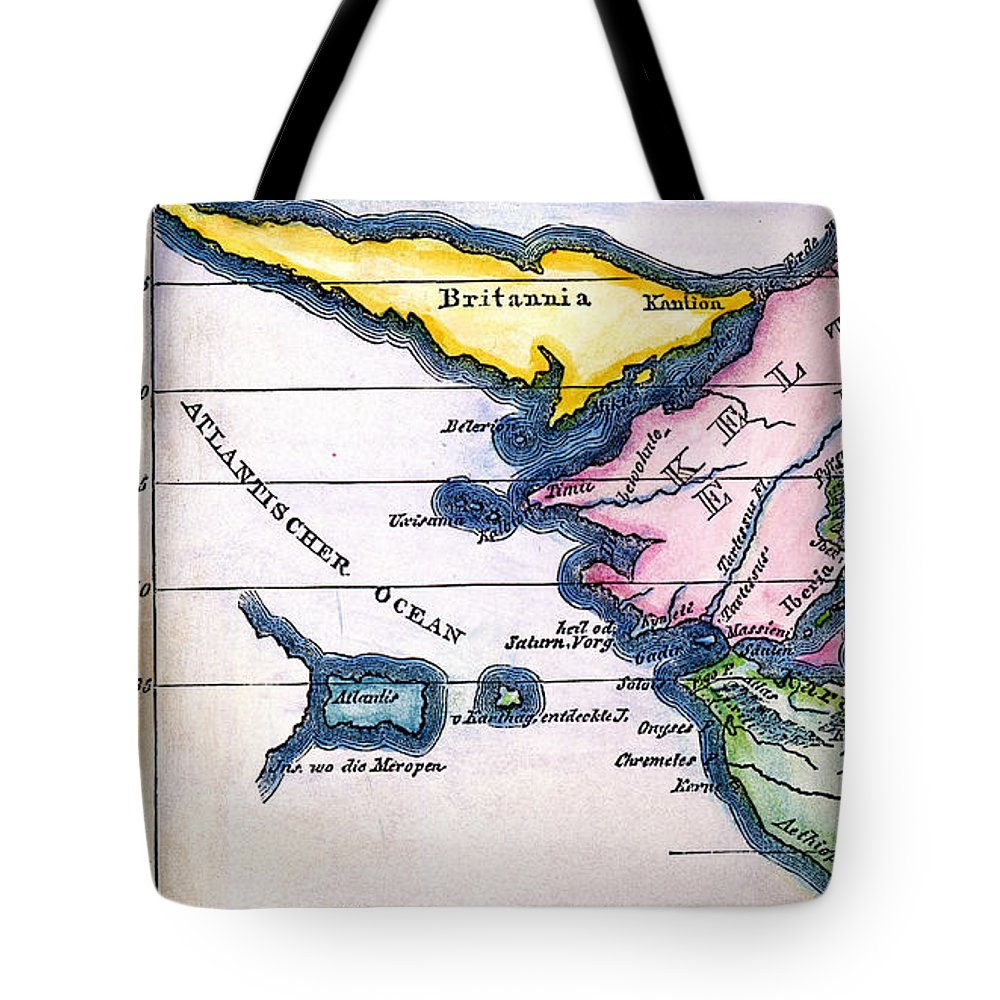 1831 Tote Bag featuring the painting Atlantis: Map, 1831 by Granger